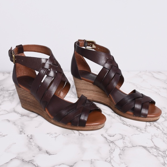 Lucky Brand Shoes - Lucky Brand Tobacco Kalistoga Wedges